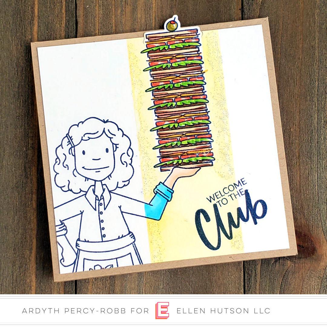 Essentials By Ellen Cooking Lady card by Ardyth Percy-Robb