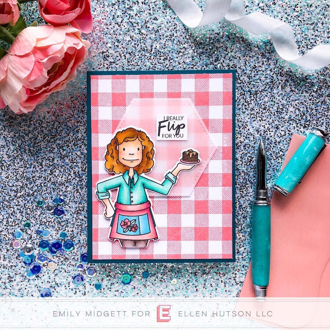 Essentials by Ellen Cooking Lady card by Emily Midgett