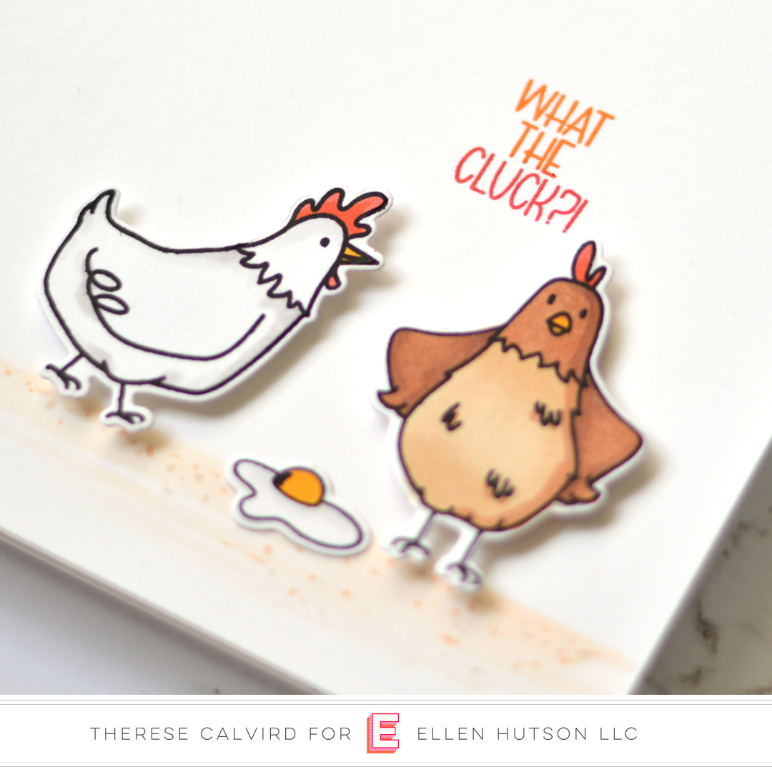 Essentials by Ellen Good Egg card by Therese Calvird