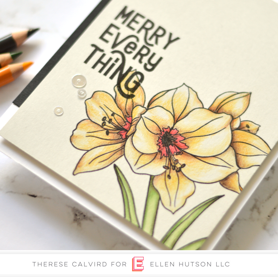 2 Holiday Card Ideas With The Essentials By Ellen Mondo Amaryllis