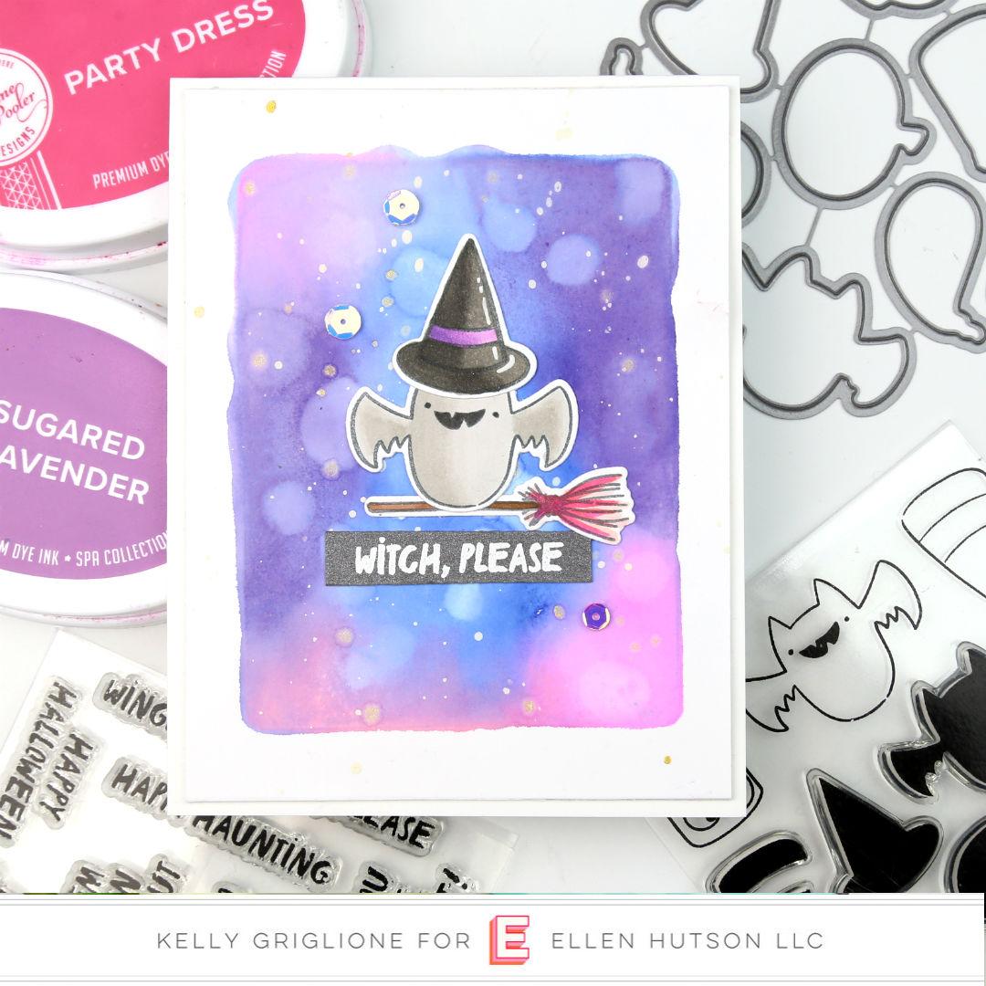 Happy Haunting card by Kelly Griglione