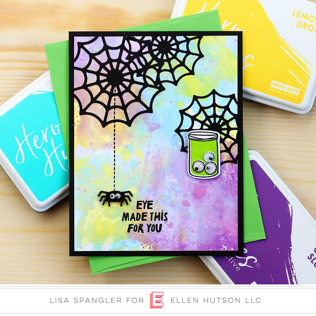 Spiderweb card by Lisa Spangler