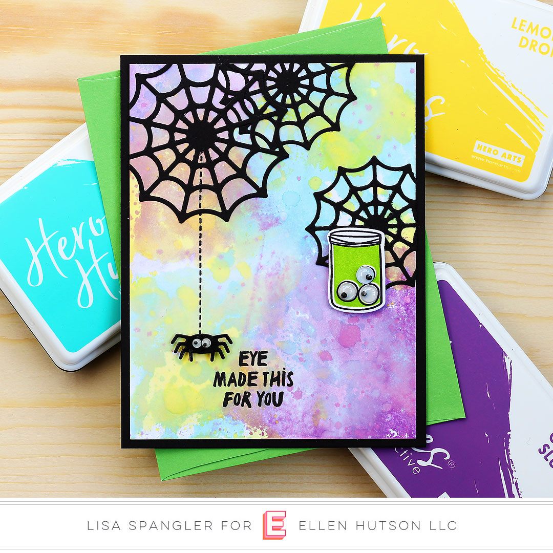 Spiderweb card by Lisa Spangler