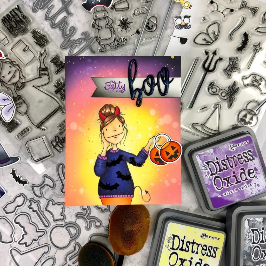 One Layer Card With Masking & Essentials by Ellen