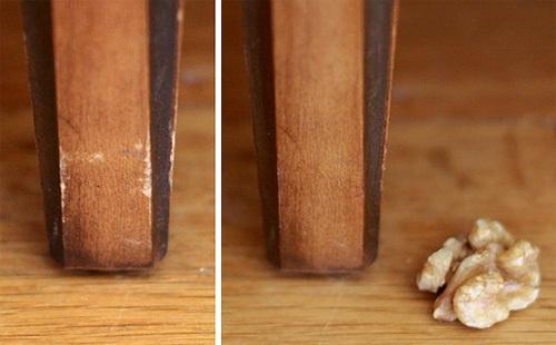 14. Disimulá las marcas y raspones de tus muebles de madera frotándoles una nuez.