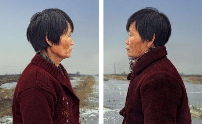 6. Ambos son individuos únicos que han hecho sus propias opciones de vida. El artista regresó a su provincia natal de Shandong para encontrar estos pares de gemelos.