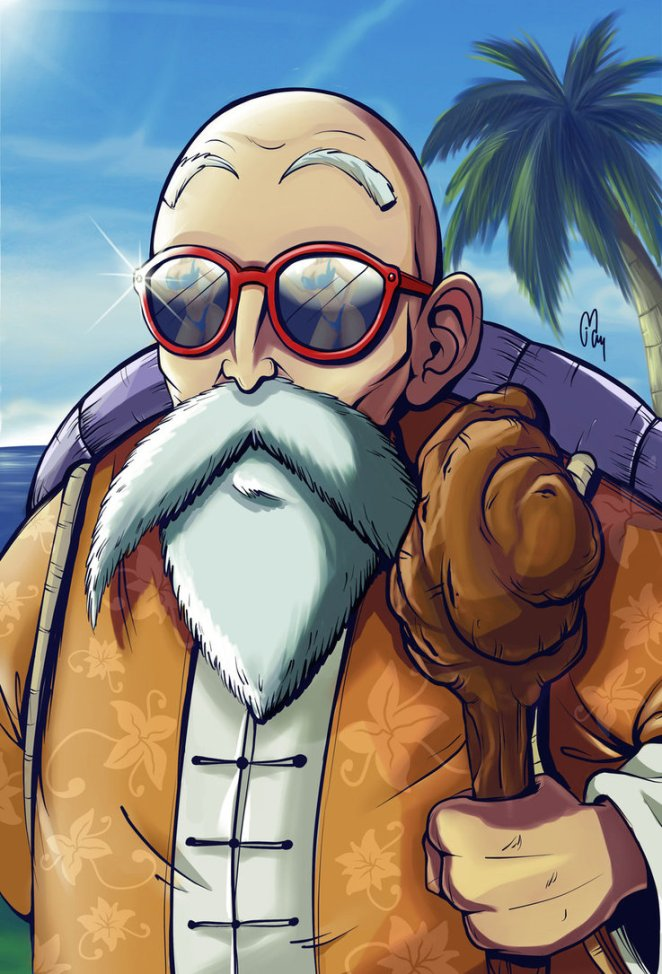 5. Maestro Roshi=Muten Roshi (maestro celestial).