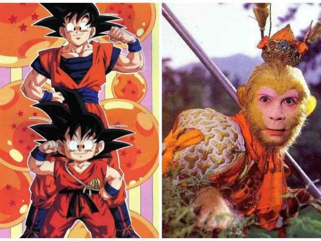 17. Son Goku=Sun Wukong (el Rey Mono de la leyenda japonesa).