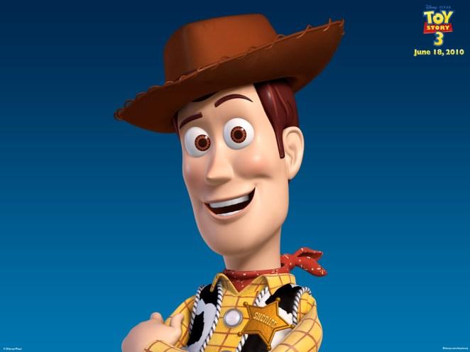 El sombrero de Andy es de vaqueros, pero no es igual de Woody...