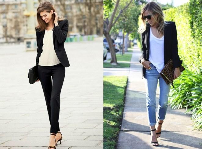 Para un look formal o informal, para un día de calor o un día fresco, el blazer negro siempre está ahí listo para completar cualquier conjunto.