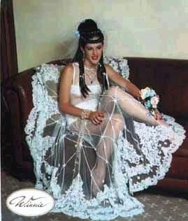 8. Vestido estilo carpeta para la mesa.