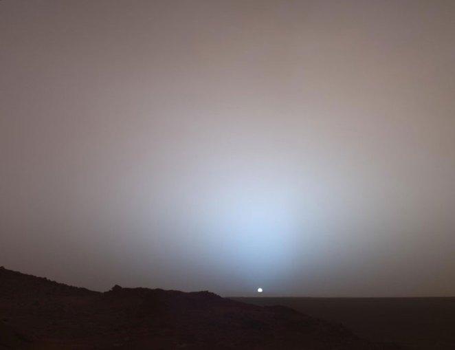 16. El amanecer en Marte.