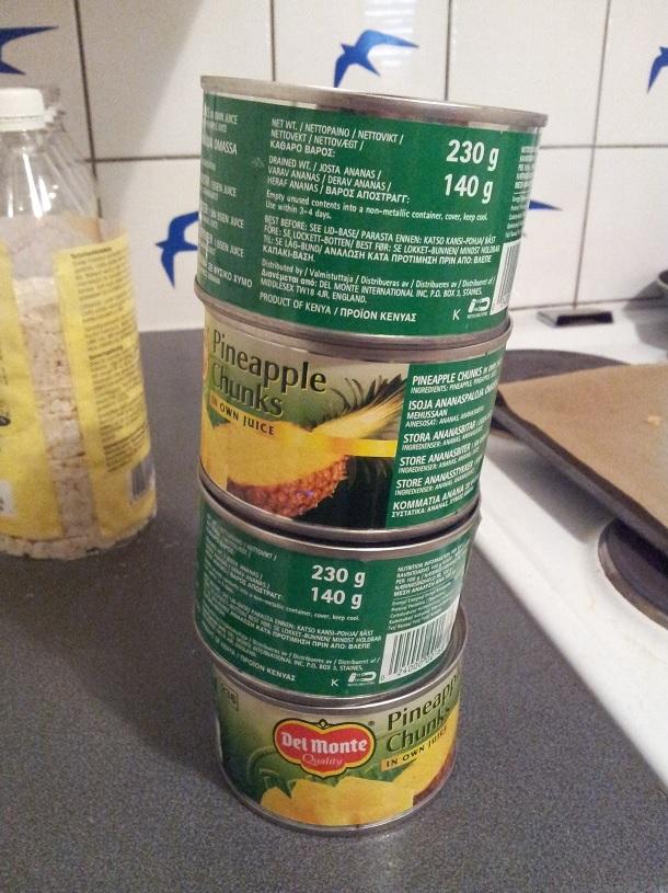 5. Las latas que no se apilan