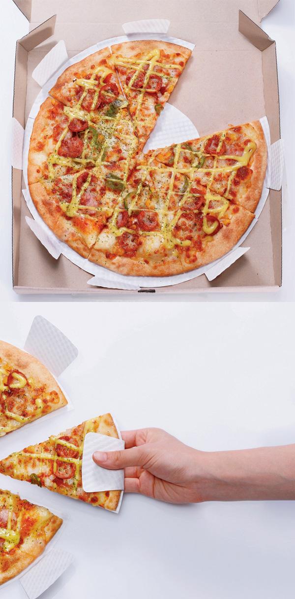2. Bandeja de pizza para no ensuciarte los dedos cuando la comés