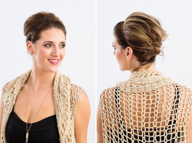 3. Si querés usar una vincha, hacerte un recogido y tenés el pelo corto: