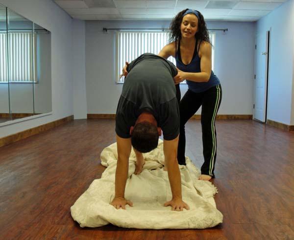 18. Una colchoneta para hacer yoga