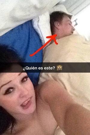 1. A través de Snapchat, los usuarios mandan sus fotos después de las fiestas