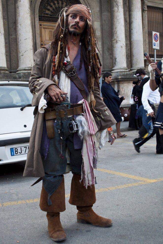 24. Capitan Jack Sparrow de Piratas del Caribe