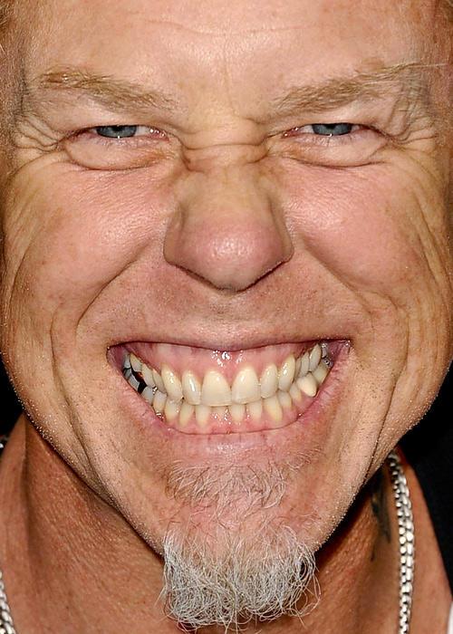 11. James Hetfield (líder de Metallica)