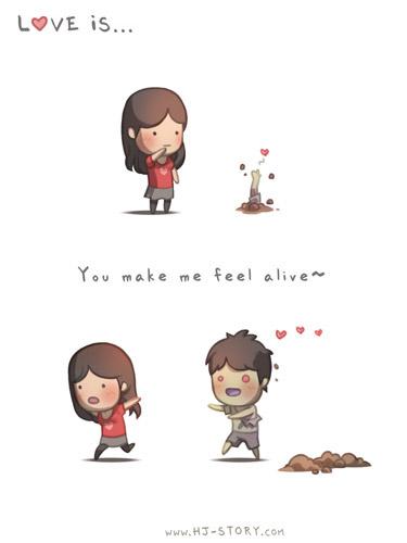 4. El amor es... Me haces sentir vivo.