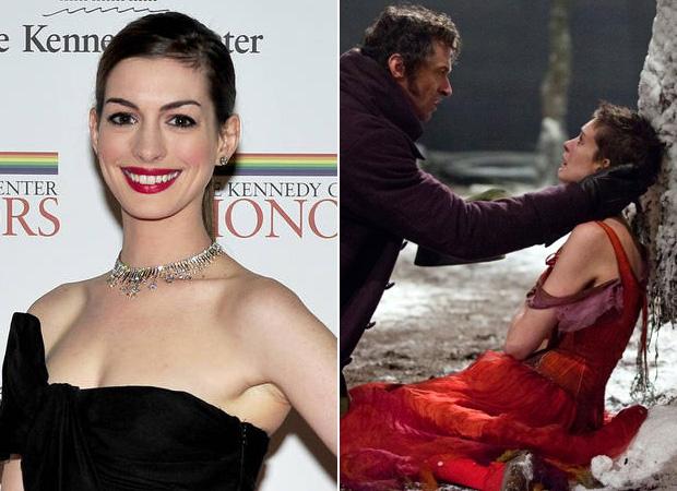 3. Anne Hathaway se cortó el pelo y bajó 15 kilos a base de dos raciones de pasta de avena al día para interpretar una agonizante Fantine en Los Miserables