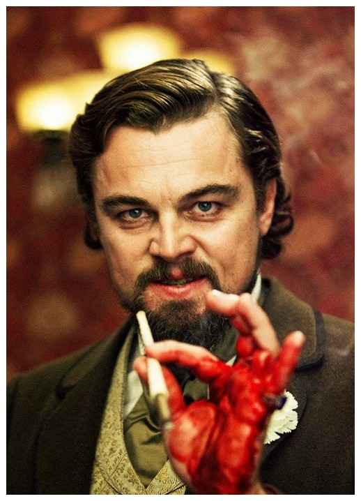 4. Leonardo DiCaprio se cortó la mano en Django y siguió actuando hasta el final