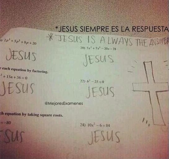 6. Jesús como respuesta a todo.