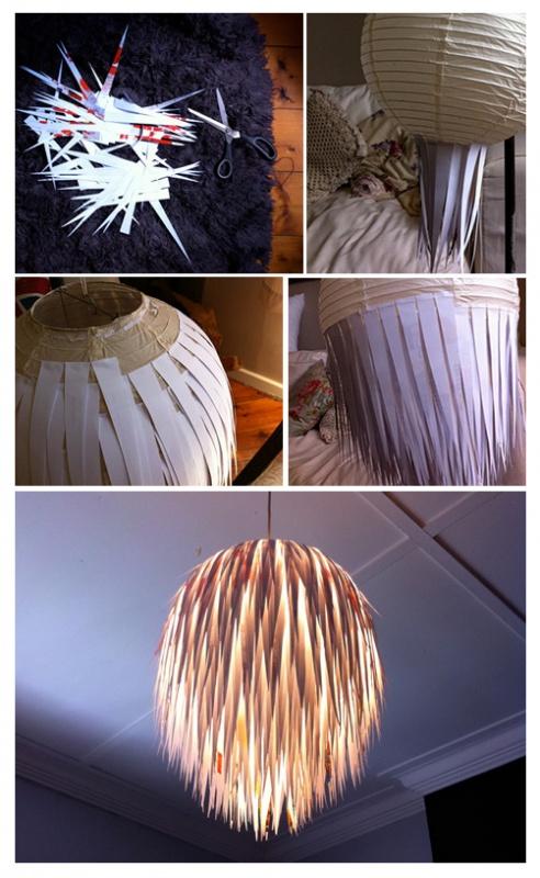 5. No compres una lámpara nueva, renová la que ya tenés así: