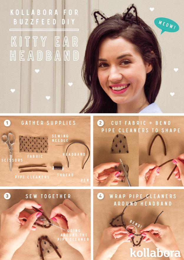 7. Hacé orejas de gato