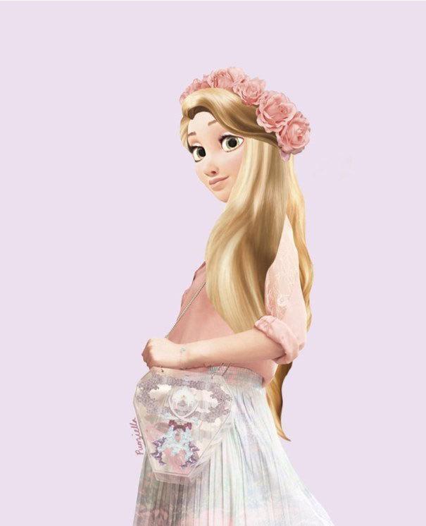 4. Rapunzel de Enredados.
