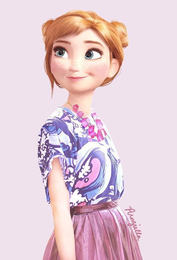 7. Anna de Frozen.