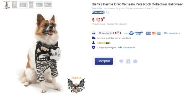 3. Disfraz de Bret Michaels para perros