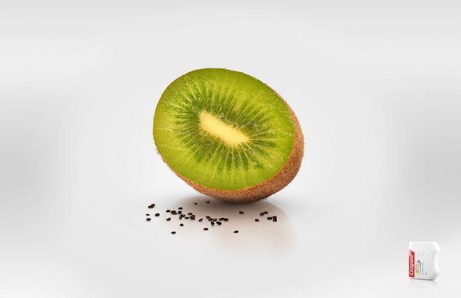 11. Sin semillas, con hilos dentales Colgate