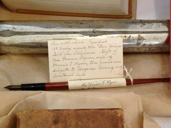 5. Pluma utilizada por el presidente McKinkley para firmar un proyecto de ley