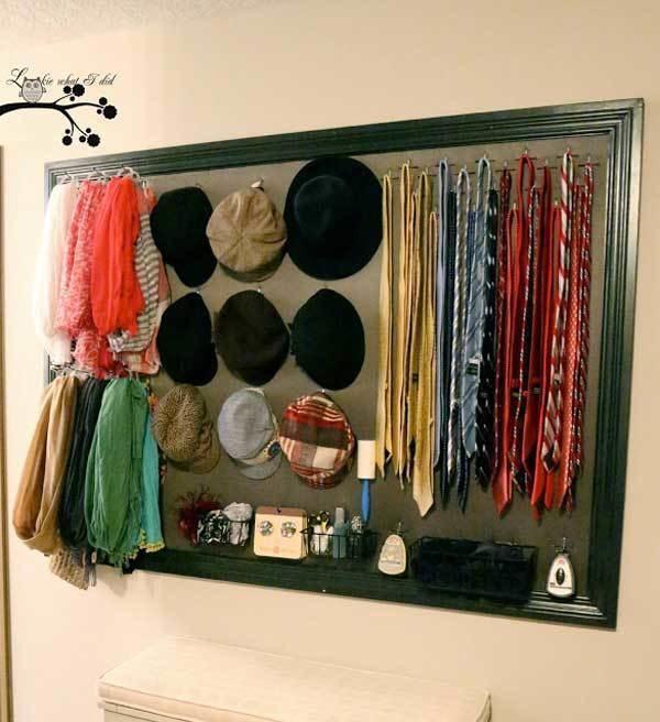 7. Las paredespueden usarse para ahorrar espacio en el armario.