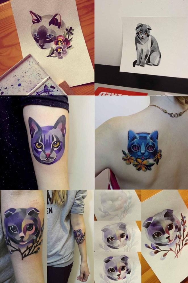 tatuajes de gatos,