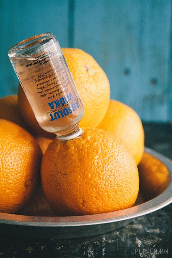 1. Vodka con naranja