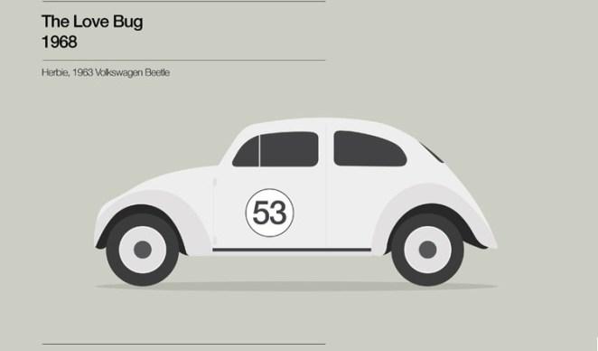 3. El auto Herbie (película de 1968) es un Volkswagen escarabajo de 1963.