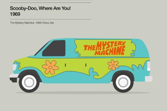 7. La maquina del misterio de Scooby Doo (1969) es una Chevy Van 1968.
