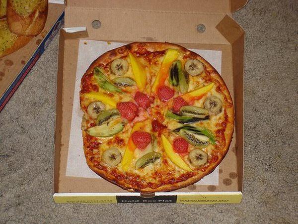 3. Pizza de frutas