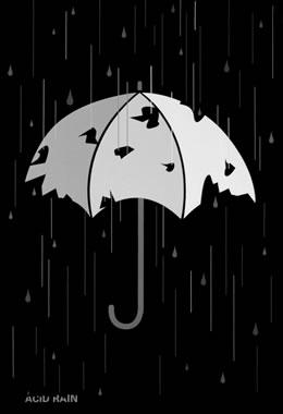 Es uno de los mayores comoponentes de la lluvia ácida...