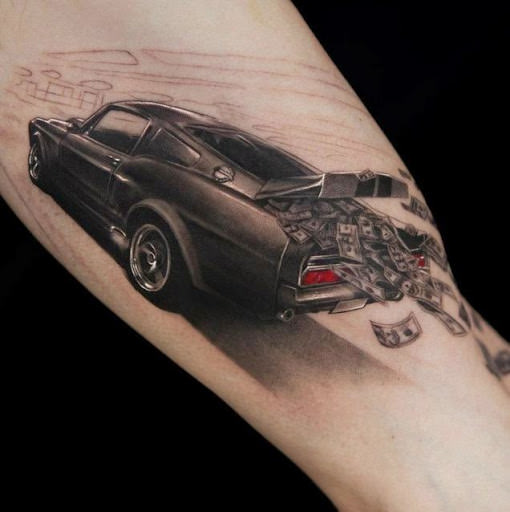Amazing realistic 3d tattoos for the biceps.