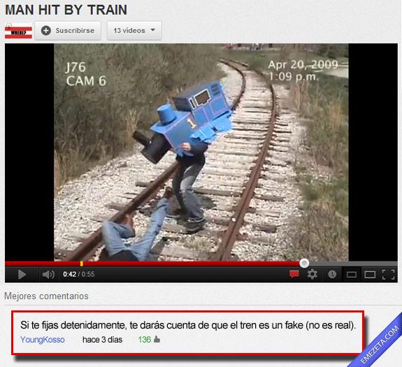 11. Hombre golpeado por un tren