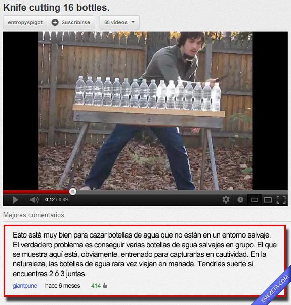 16. Las botellas de agua salvajes son las peores
