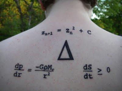 7. Representa la Creación, la ecuación de equilibrio hidrostático, la ecuación que describe la entropía y los tres círculos alrededor del Delta, el símbolo para el cambio