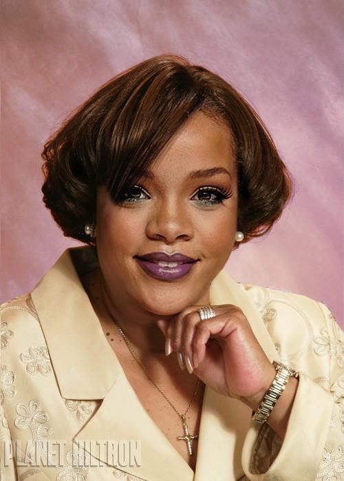 Rihanna en la foto de la contratapa de su libro de autoayuda.