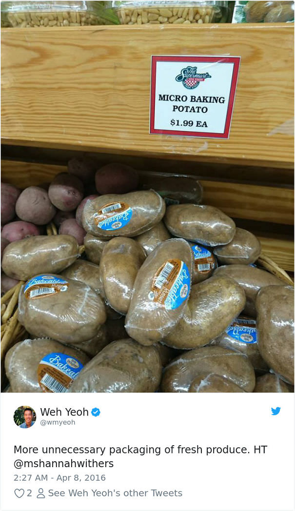 Single Wrapped Potatoes