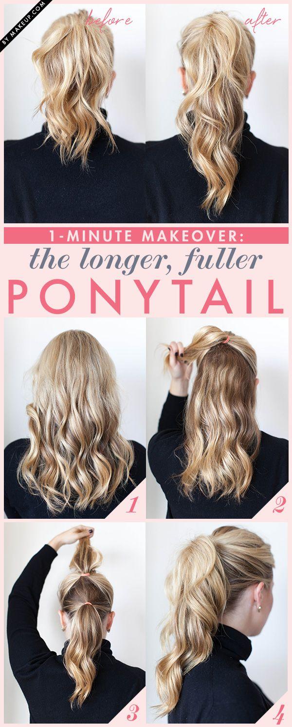 11. Esta técnica sirve para atarlo y simular tener menos pelo y más largo.