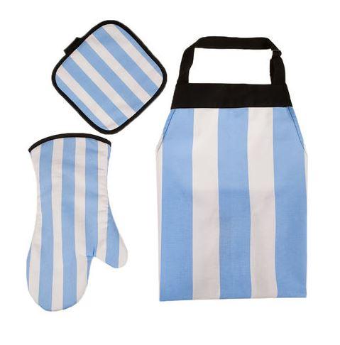 Y con esta la rompés: Set de Cocina x 3 Celeste V.H Fabrics Vip Argentina, a 9