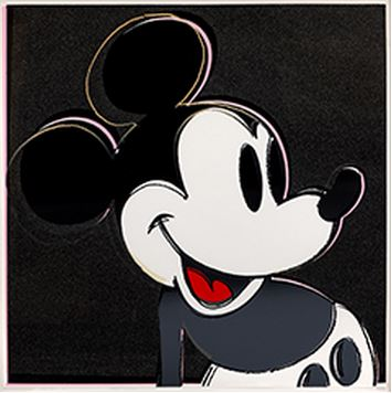 O este poster MICKEY BY WARHOL a 0